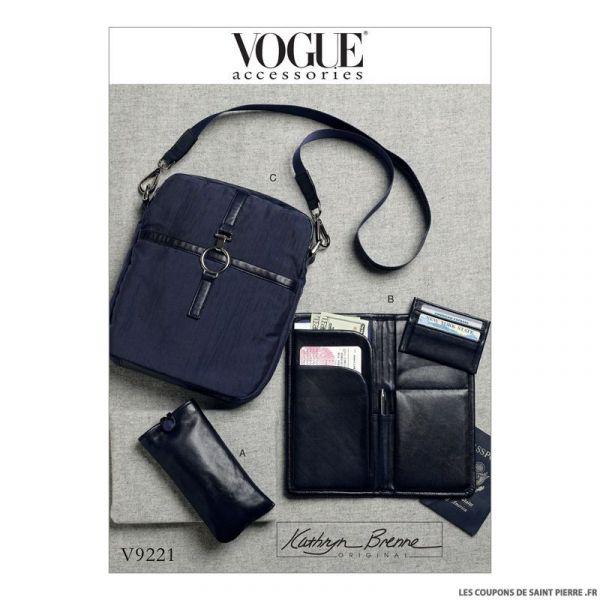 Patron Vogue V9221 : Accessoires de voyage