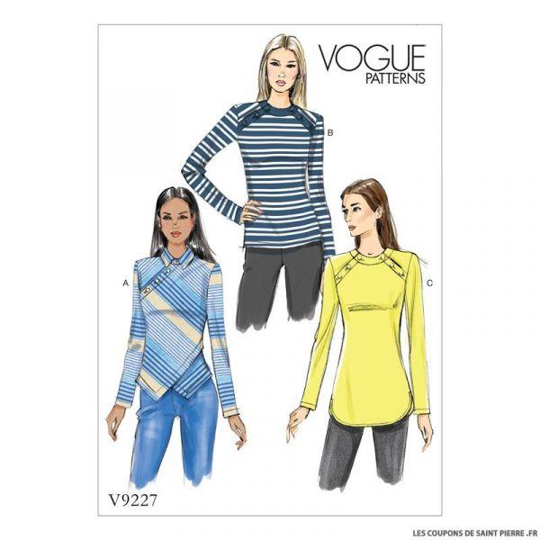 Patron Vogue V9227 : Haut