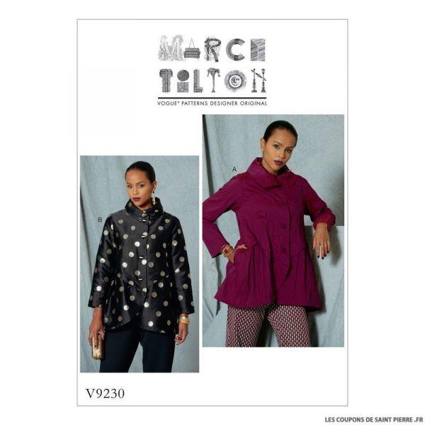 Patron Vogue V9230 : Veste