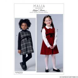 Patron Vogue V9233 : Robe et chemisier fillette