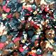 Tissu microfibre imprimé floral bordeaux gris