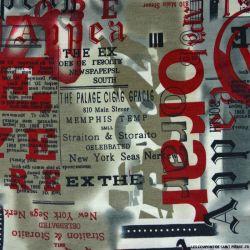 Jersey polyester imprimé journaux