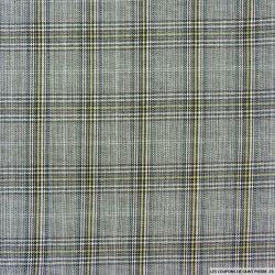 Clan écossais polyester noir ligne verte