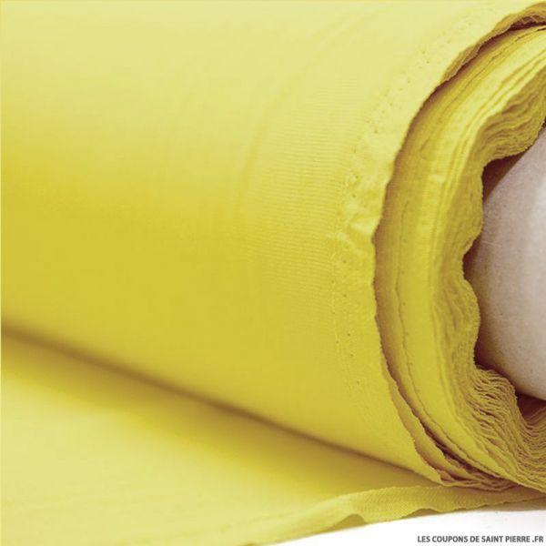 Crêpe Cady jaune topaze au mètre