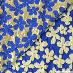 Brocart Cardamine bleu fond or