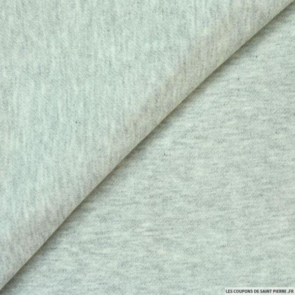 Molleton tubulaire gris clair chiné