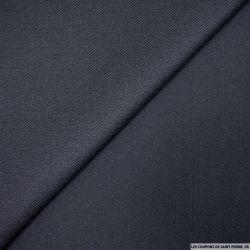 Gabardine de laine bleu nuit