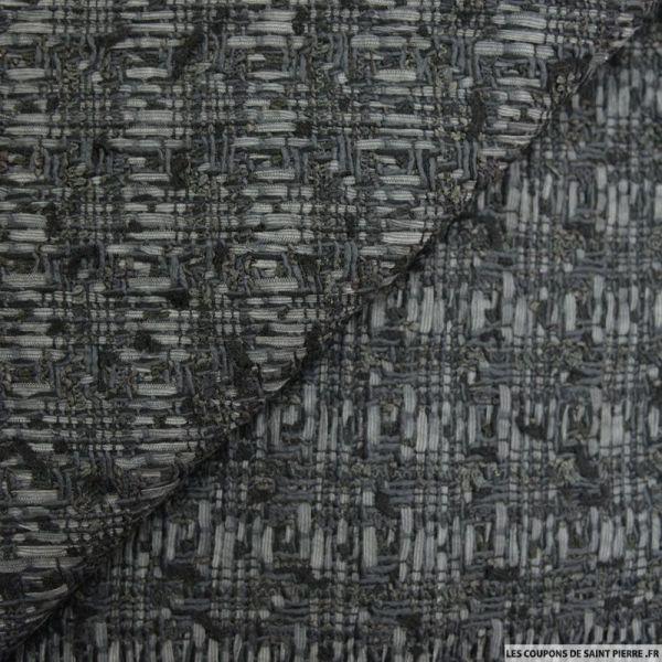 Lainage fantaisie gris anthracite