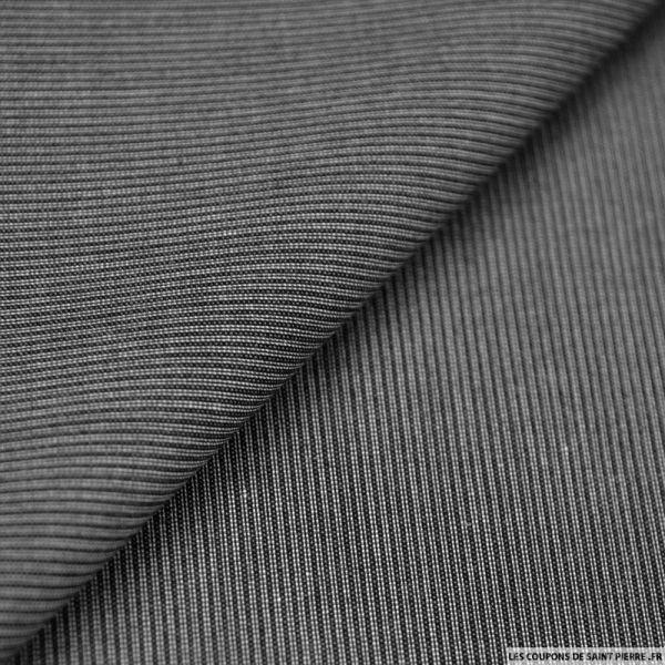 Polyviscose rayé gris et noir