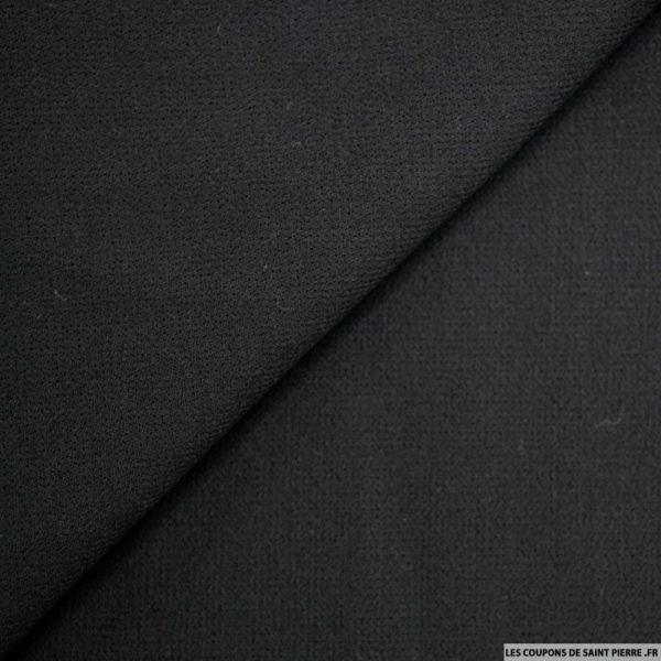 Crêpe de laine noir