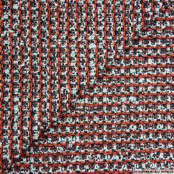 Tweed polyviscose rouge et noir
