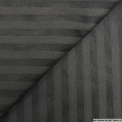 Velours coton rayures chevrons noir