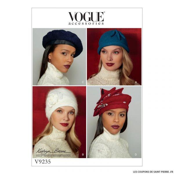 Patron Vogue V9235 : Chapeaux