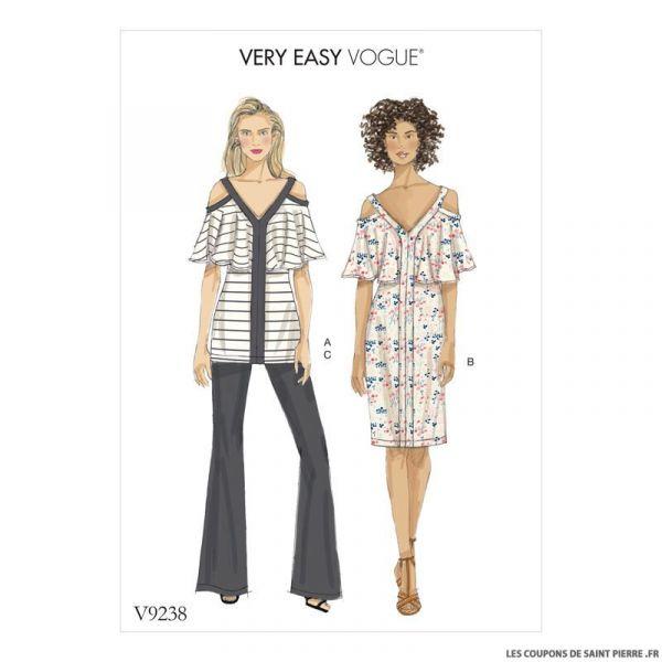 Patron Vogue V9238 : Haut, robe et pantalon