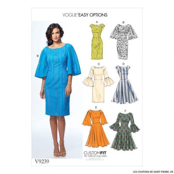 Patron Vogue V9239 : Robe