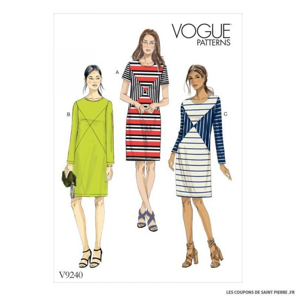 Patron Vogue V9240 : Robe