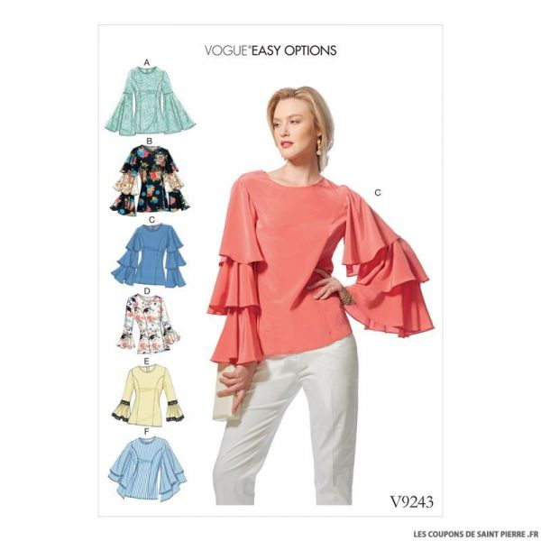 Patron Vogue V9243 : Haut