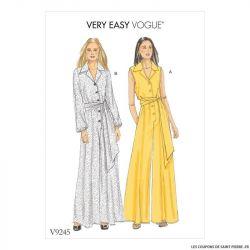 Patron Vogue V9245 : Combinaison et ceinture