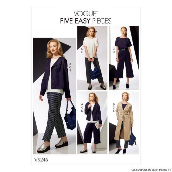 Patron Vogue V9246 : Veste, ceinture et haut