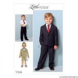 Patron Vogue V9248 : Veste, short et pantalon garçon