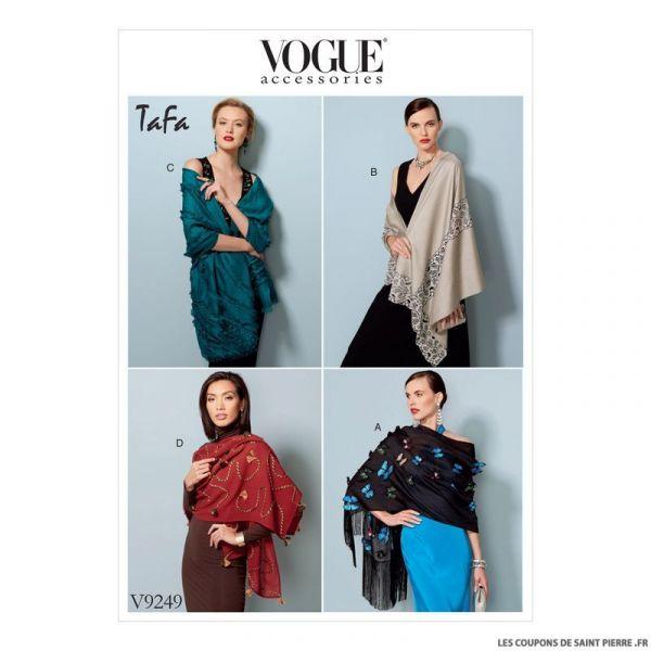 Patron Vogue V9249 : Châles