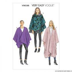 Patron Vogue V9038: Cape très ample
