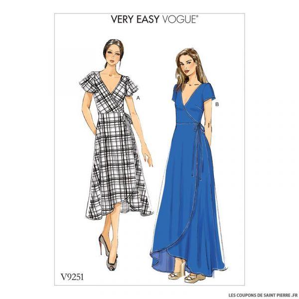 Patron Vogue V9251 : Robe