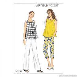 Patron Vogue V9258 : Haut et pantalon