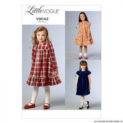 Patron Vogue V9042 : Robe fillette