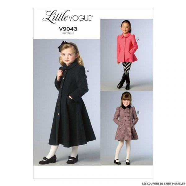 Patron Vogue V9043 : Manteau fillette