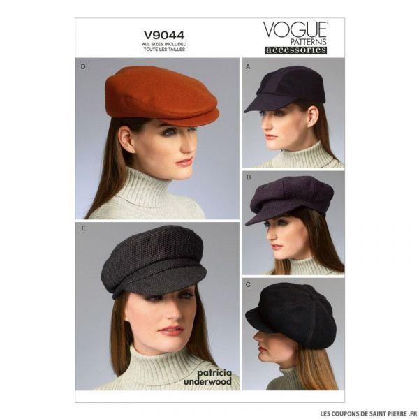 Patron Vogue V9044 : Chapeau