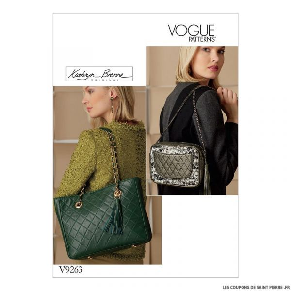 Patron Vogue V9263 : Sac à main
