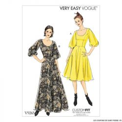 Patron Vogue V9265 : Robe