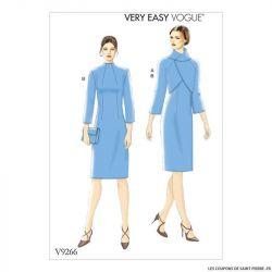 Patron Vogue V9266 : Veste et robe