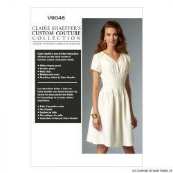 Patron Vogue V9046 : Robe plissée