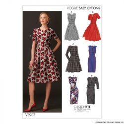 Patron Vogue V9267 : Robe