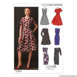 Patron Vogue V9267 : Robe