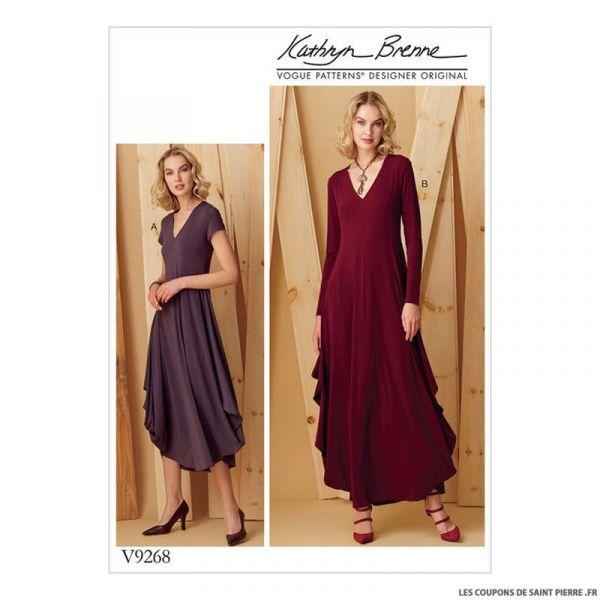 Patron Vogue V9268 : Robe