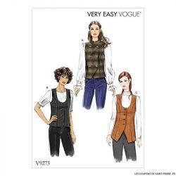 Patron Vogue V9273 : Gilet