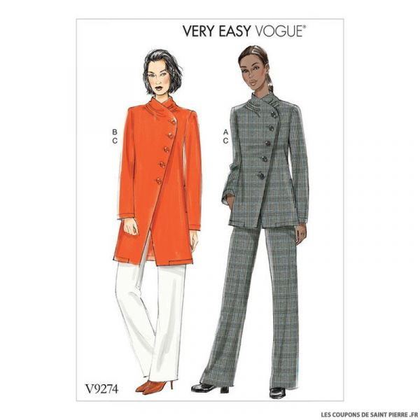 Patron Vogue V9274 : Veste et pantalon
