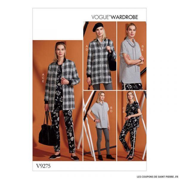 Patron Vogue V9275 : Veste, tunique et pantalon