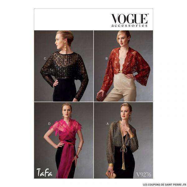 Patron Vogue V9276 : Boléro et mini cape
