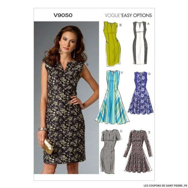 Patron Vogue V9050: Robe simple