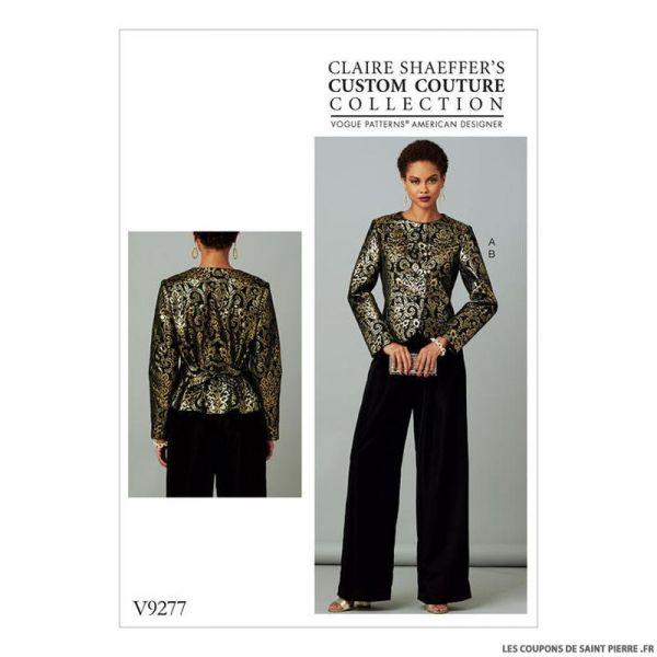 Patron Vogue V9277 : Veste et pantalon
