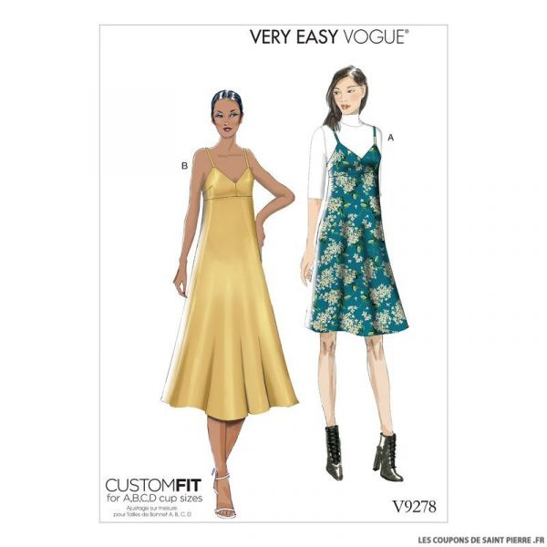 Patron Vogue V9278 : Robe