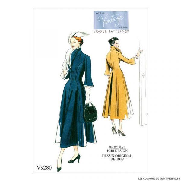 Patron Vogue V9280 : Robe