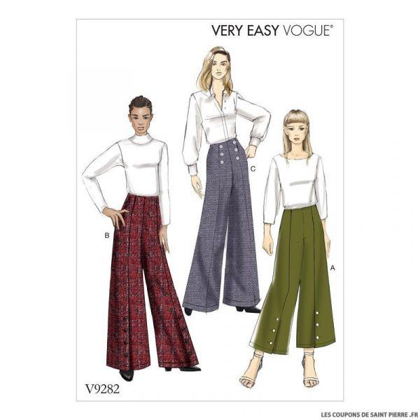 Patron Vogue V9282 : Pantalon