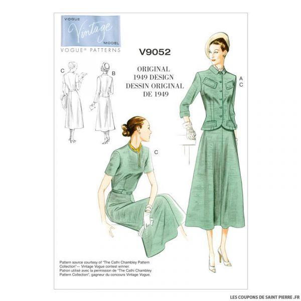 Patron Vogue V9052: Veste et Robe