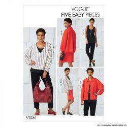 Patron Vogue V9286 : Haut, jupe et pantalon