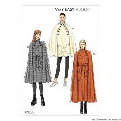 Patron Vogue V9288 : Cape et ceinture